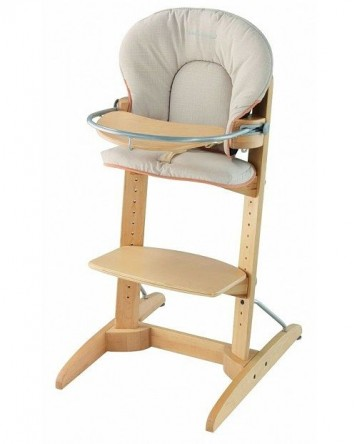 High wood chair
